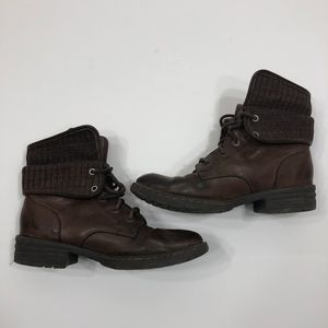 b.o.c Saturn II Lace-Up Brown Combat Boot Size 7.5